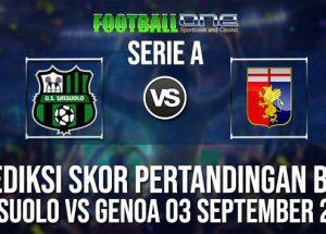 Prediksi SASSUOLO vs GENOA 03 September 2018 Serie A
