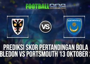 Prediksi WIMBLEDON vs PORTSMOUTH 13 OKTOBER 2018 ENGLISH LEAGUE ONE